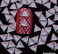 100PCS 6MM*6MM Triangle White Red Colors Case 3D Nail Art Decoration
