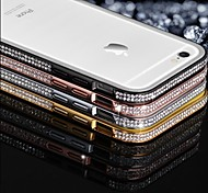 SHENGO™ Luxury Crystal Double Row Rhinestone Inlaid Style Metal Bumper Phone Case for iPhone 6(Assorted Color)