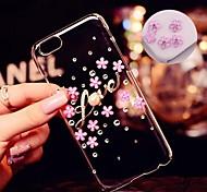 la perla del diamante de lujo de cinco hojas del cerezo en flor para el iphone 6 (colores surtidos)