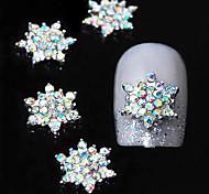 10pcs   3D Colorfull Rhinestone Flower DIY Alloy  Accessories Nail Art Decoration