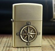 Earth Compass Pattern Metal Relief Oil Lighter (More Color)