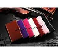 Protective PU Leather Magnetic Vertical Flip Case Cover Shell Protector for Sony Z3(Assorted Colors)