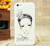 bosquejo hermoso de la corona de la cubierta del caso duro del patrón de la reina para el iphone 5 / 5s