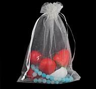 Rectangle-Shaped Mesh Gift Bag White(1Pc)
