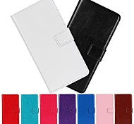 Horse Grain Solid Color PU Leather Cover with Stand and Card Slot for Huawei G6 (Assorted Colors)
