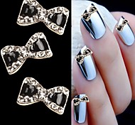 10PCS  Bowtie Design Rhinestone 3D Alloy nail art DIY Nail beauty Nail Decoration