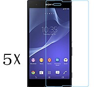[5-Pack]Professional High Transparency LCD Crystal Clear Screen Protector for Sony Xperia T3
