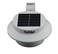 youoklight® yl0415 водонепроницаемый 0.3W 40lm 3-LED теплый белый солнечный светильник питание сад стены - белый
