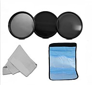 58MM  Neutral Density Professional Photography Filter Set (ND2 ND4 ND8) +Cleaning Cloth