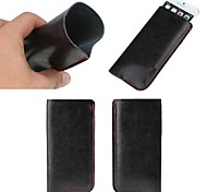 Solid Colors Genuine Leather Full Body Mobile Phone Bags for iPhone 6 Plus