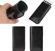 Uni-Farben echtem Leder Ganzkörper-Handytaschen für iphone 6 Plus