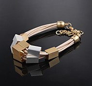 Creative Gold-plated Ladies Leather Bracelet Junior Love Gift