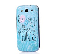 Phrase Pattern Thin Hard Case Cover for Samsung Galaxy S3 I9300