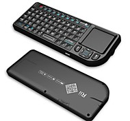 rii mini-v3 2,4g keyborad wireless com / touchpad / ponteiro laser / luz de fundo - preto