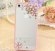 Fashion Transparent Frosted Rhinestone Flower Silicone Soft Case for iPhone 6/6S(Assorted Colors)