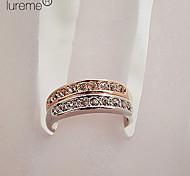 Lureme®Rhinestone Simple Stainless Steel Ring(Random Size)