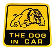 DIY Series The Dog in Car Design  PVC Decoration Sticker for Car