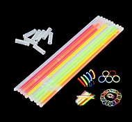 45pcs del color multi pulseras fluorescentes palos resplandor de la noche de fiesta, navidad, fiestas, ceremonia (color al azar)