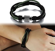 Fashion Hand-woven Multilayer Titanium Steel Men's Bracelet