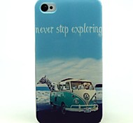 Car Pattern TPU Soft Cover for iPhone 4/4S