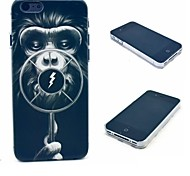 Lighting Monkey Pattern Hard Case for  iPhone 4/4S
