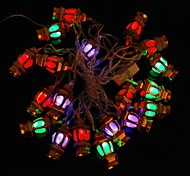 Gold Lanterns 5M 4.8W Christmas Flash 20-LED RGB Light Strip Light Lamp (EU Plug , AC 110-220V)