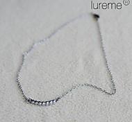 Lureme® Crystals Bar Necklace