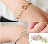 Diamond Heart Gold Bracelet #36-1