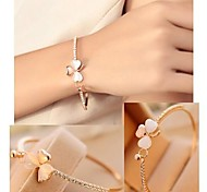 Diamond Flower Gold Bracelet #38-1
