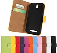 Genuine Leather Phone Cover for Sony Xperia P Lt22i (Assorted Colors)