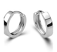 Button Earrings 925 Sterling Silver Earrings Are Smooth Of Male And Female Ear