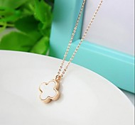 Tag vier leaved Klee necklace14k Valentinstag Rose vergoldet