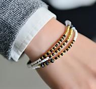 Mode Frauen 3 Reihen Saatperlen Armband
