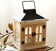 European Style Wooden Irony Two-door Candle Holder