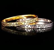 18k brazalete de platino verdadero oro de u7®men plateado esmalte estilo simple pulsera joyería de moda para los hombres / mujeres