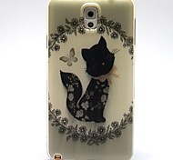 The Black Cat Pattern TPU Soft Case for Samsung Galaxy Note 3