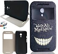 Teeth Pattern PU Leather Full Body Case And Dustproof Plug for Motorola G2