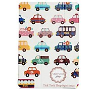 Fashion Painted Cartoon Car PU Full Body Case with Stand for iPad Air