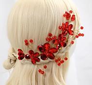Женский Для девочек Хрусталь Сплав металлов Заставка-Свадьба Особые случаи Цветы
