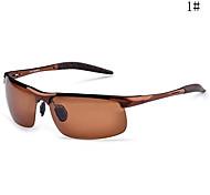Polarized Men's Wrap Aluminum Lightweight Sunglasses