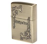 Pocket Antique Gun Design Zinc Alloy Oil Lighter(Bronze)