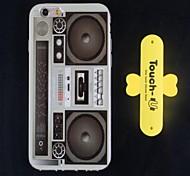 шаблон рекордер ТПУ защитных оболочек и поддержку по телефону для iPhone 6 (ассорти цветов)