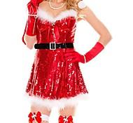 Women's Sexy Sparkly Miss Santa Costume