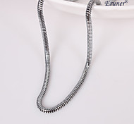 eruner®unisex plata 3 mm collar de cadena No.113