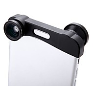 Phone Photo Lens 180° Fisheye Camera 0.67X Wide Angle 10X Macro Set with Bag for iPhone 6 Plus