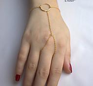 Eruner®Fashion Women Beads Slave Chain Charm Hand Harness Finger Ring Bracelet Bangle