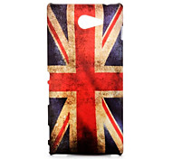 Vintage Union Jack Flag Pattern Oil Coated PC Hard Back Cover Case for Sony Xperia M2 D2303 D2305 D2306
