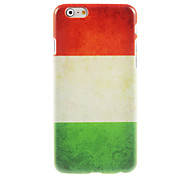 Italian Flag Design Hard Case for iPhone 6