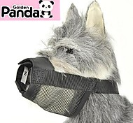 Dog Muzzle Anti Bark / Adjustable/Retractable / Safety Solid Black Nylon