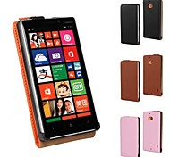 For Nokia Case Flip Case Full Body Case Solid Color Hard PU Leather Nokia Nokia Lumia 930